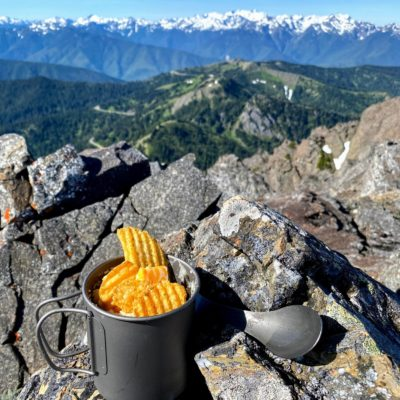 easy backpacking meals - potato bowl